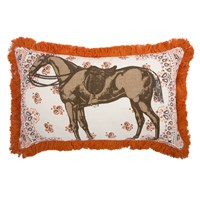 Thomas Paul Menagerie Horse Pillow Brown White