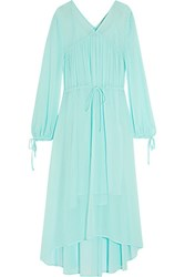 Maje Rutabaga Gathered Chiffon Midi Dress Mint
