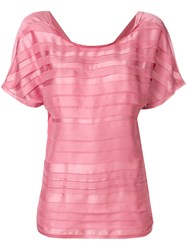 Chanel Vintage 3D Striping T Shirt Pink And Purple