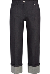 Michael Kors Cropped Mid Rise Straight Leg Jeans