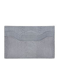 Tom Ford Embossed Croc Leather Card Holder Unisex White