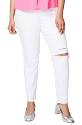 Rachel Roy Plus Size Women's Live To Love Ripped Skinny Jeans