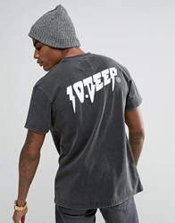 10.Deep 10 Deep T Shirt With Back Print Black