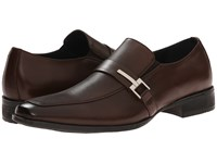 Steve Madden Seemore Brown Leather Men's Slip On Shoes