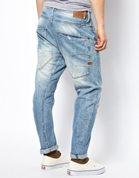 G Star Jeans Type C 3D Loose Tapered Light Aged Distressed Ltaged