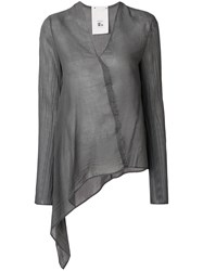 Lost And Found Rooms Asymmetric Long Sleeve Top Grey