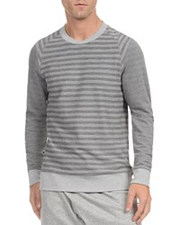 2Xist 2 X Ist Stripe French Terry Pullover Light Grey Heather Medium Heather Stripe