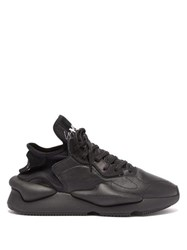 Y 3 Kaiwa Low Top Leather Trainers Black