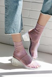 Out From Under Slouchy Glitter Mesh Ankle Sock Purple