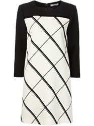 Bouchra Jarrar Checked Shift Dress Black