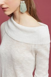 Anthropologie Demi Off The Shoulder Pullover White