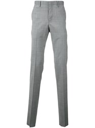 Estnation Puppytooth Suit Trousers Men Polyester Polyurethane Wool 48 Grey