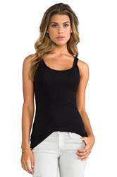 James Perse Classic Brushed Long Tank Black
