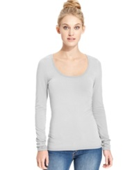 Energie Juniors' Scoop Neck Top Light Heather Grey