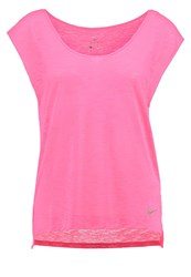 Nike Performance Breathe Basic Tshirt Racer Pink Neon Pink