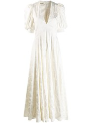 Zadig And Voltaire Flower Robe Longue Dress White