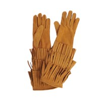 Burberry Runway Long Maureen Gloves With Fringes