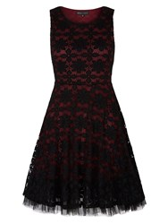 Mela Loves London Glitter Lace Prom Dress Burgundy