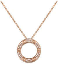 Cartier Love 18Ct Pink Gold And Diamond Necklace