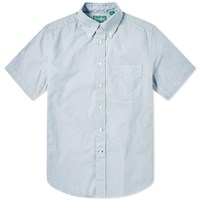 Gitman Brothers Vintage Short Sleeve Spring Oxford Shirt Blue