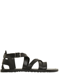 Pollini By Nicholas Kirkwood Leather Cage Sandals Black