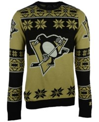 Forever Collectibles Men's Pittsburgh Penguins Big Logo Christmas Sweater Black Gold