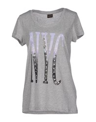 Pieces Topwear T Shirts Women Grey