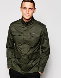 Ringspun Four Pocket Coated Jacket Green