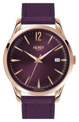 Henry London 'Hampstead' Leather Strap Watch 39Mm