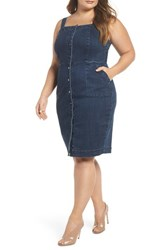 Rebel Wilson X Angels Plus Size Women's Denim Body Con Dress Del Mar