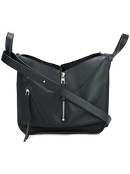 Loewe Zip Detail Shoulder Bag Black