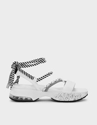 Charles And Keith Laced Up Rope Detail Sandals White