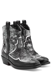 Rupert Sanderson Leather Ankle Boots Silver