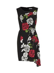 Gina Bacconi Moss Crepe Rose Georgette Dress Red