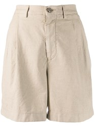 Berwich Tailored Fitted Shorts Neutrals