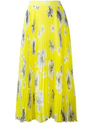 Msgm Pleated Maxi Skirt Yellow Orange