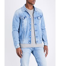 Replay Cropped Denim Jacket Blue