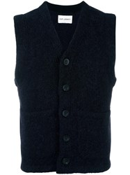 Our Legacy Knitted Buttoned Vest Black