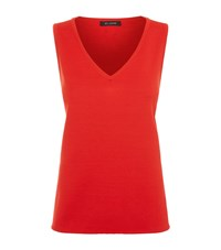 St. John Milano Knitted Vest Top Female Red