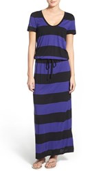 Women's Caslon Drawstring V Neck Jersey Maxi Dress