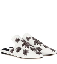 Sanayi 313 Embroidered Canvas Mules White
