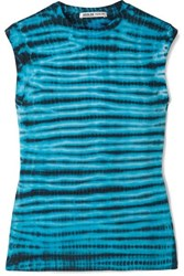 Agolde Tie Dyed Cotton Jersey Tank Blue