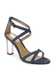 Luxury Rebel Driscoll Lucite High Heel Dress Sandals Blue Denim