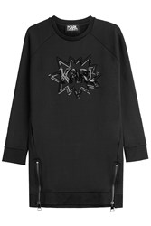Karl Lagerfeld Sweatshirt With Sequins Black