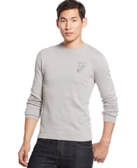 Versace Grey Crew Neck Knit Logo Sweater