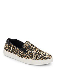 Kenneth Cole Reaction Salt King Leopard Print Slip On Sneakers