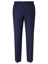 John Lewis Super 100S Wool Birdseye Tailored Suit Trousers Blue