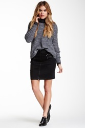 Fire Zipper Detail Skirt Juniors Black