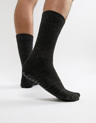 Totes Slipper Socks In Charcoal Grey