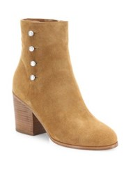 Maison Martin Margiela Suede Block Heel Booties Brown